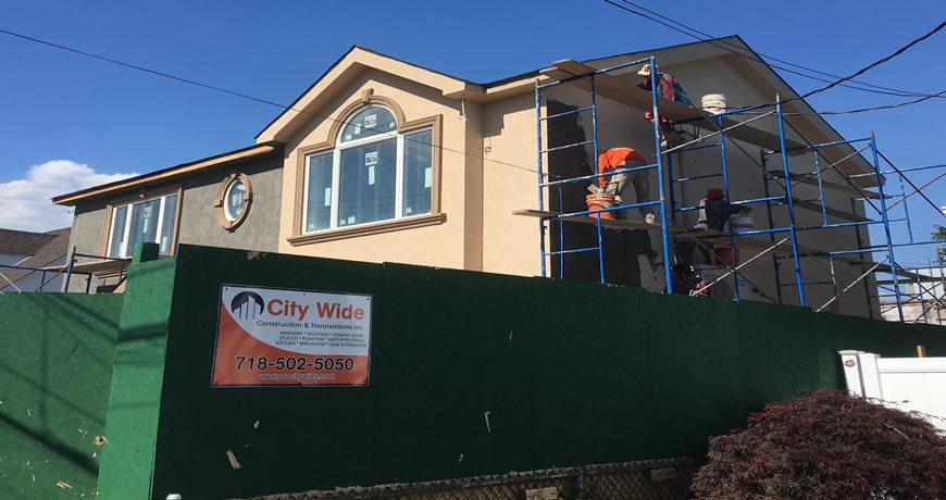 Stucco Contractors Queens, Stucco Company, Styrofoam Stucco